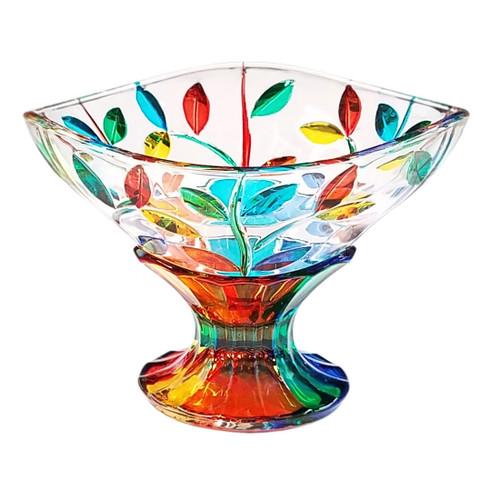 Gage Tree of Life Pedestal Bowl, Multi-color