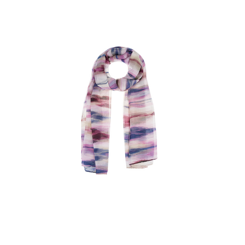 Ganz Painted Color Scarf - Pink/Navy