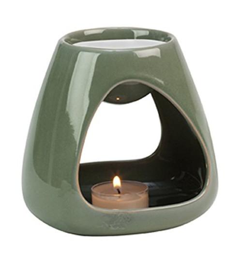Biedermann & Sons Tea Light and Oil Warmer, Celadon