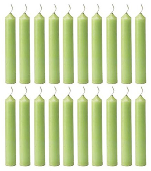 Biedermann & Sons Chime Candles, Lime Green