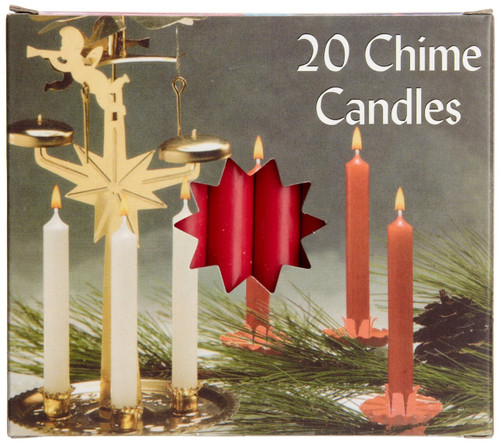 Biedermann & Sons Chime Candles, Red