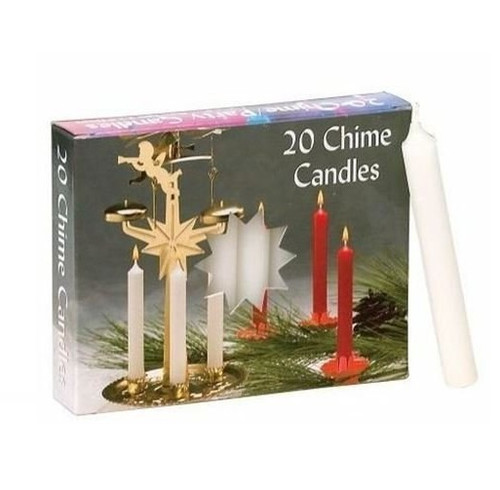 Biedermann & Sons Chime Candles, White