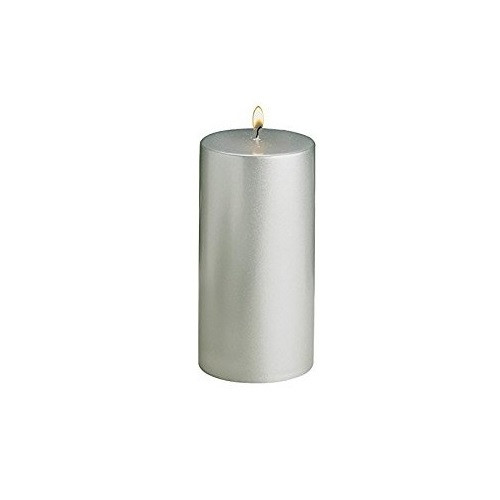 Biedermann & Sons Silver Metallic 3x6 Pillar Candle