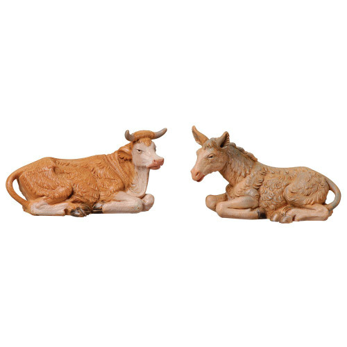 "Roman Fontanini  3.5"" Collection Donkey & Ox, 2 Piece Set"