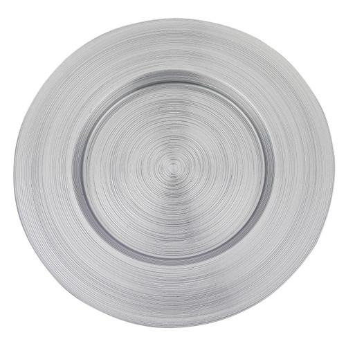 "Badash 13"" Arianna Charger Plate, Silver (D102)"