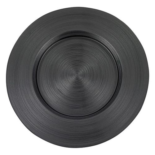 "Badash 13"" Arianna Metallic Charger Plate, Black (D103)"