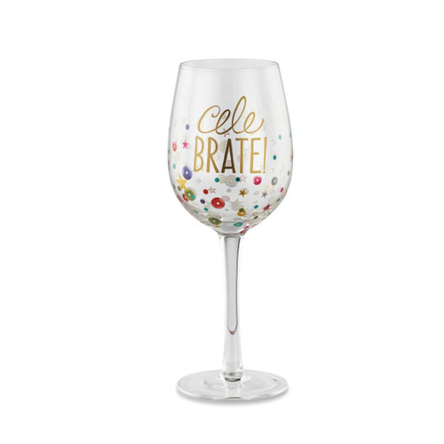 "Demdaco ""Celebrate"" Wine Glass"