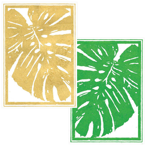 Caspari Boxed Note Cards, Palm Leaves, Box of 8 (88612.46)