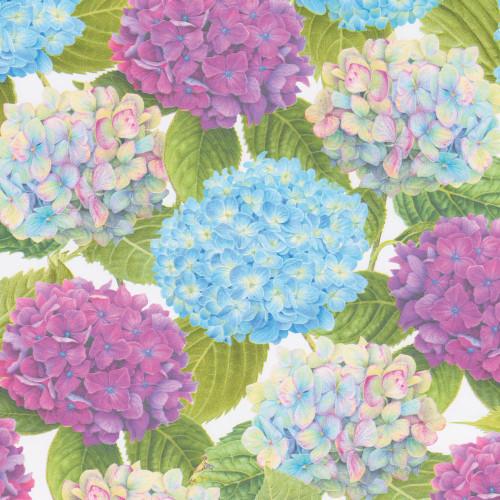 Caspari 5' Continuous Gift Wrap Roll, Hydrangea Garden (9006RSC)