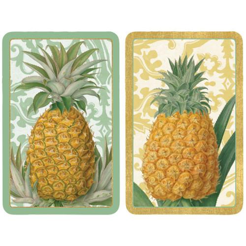 Caspari Bridge Playing Cards, Royal Pineapple, 2 Decks (PC114)