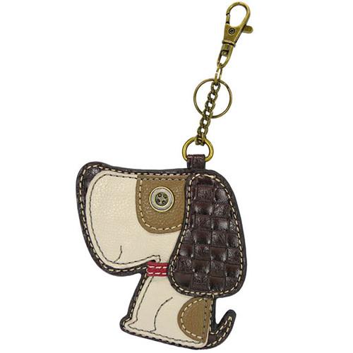 Chala Coin Purse/Key Fob, Brown Dog