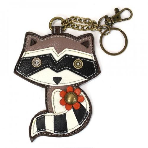 Chala Coin Purse/Key Fob, Raccoon