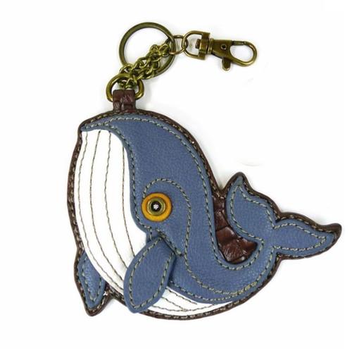 Chala Coin Purse/Key Fob, Whale