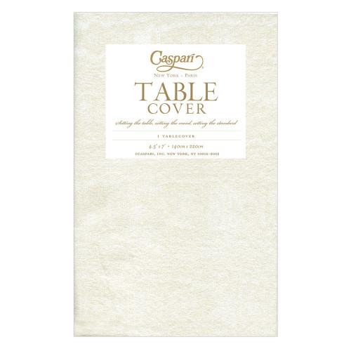 Caspari Paper Table Cover, Moiré Ivory (9717TCP)