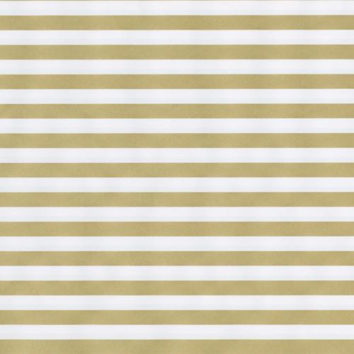 Caspari 8' Continuous Gift Wrap Roll, Club Stripe Gold/Silver Reversible (97270RC)