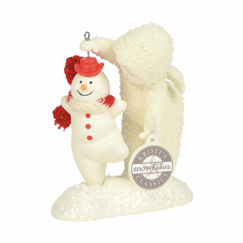 "Enesco Snowbabies ""Give It A Whirl"" Porcelain Figurine, 3.5"""
