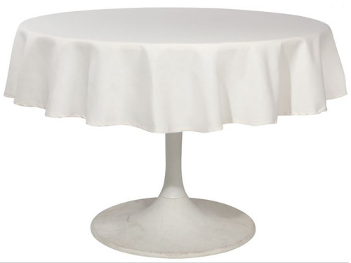 Now Designs Ivory Renew Tablecloth 60 inch Round