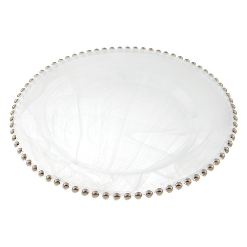 """Badash 12""""  Beaded Rim Charger, Silver (D147S)"""
