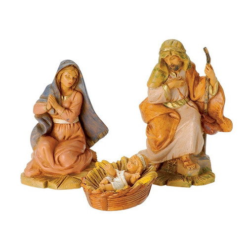 """Roman Fontanini 5"""" Collection Holy Family, Set of 3"""