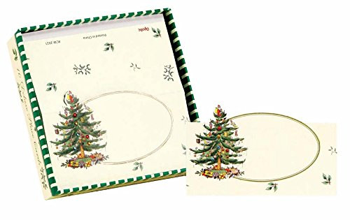 C.R. Gibson Deluxe Die-Cut Place Cards, Christmas Tree, Box of 10
