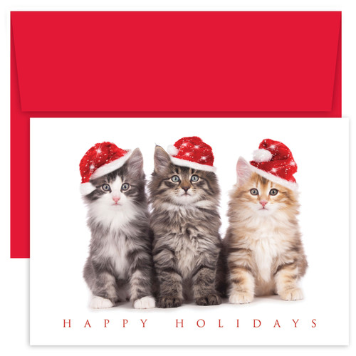 Masterpiece Studios Boxed Holiday Card - Christmas Kittens