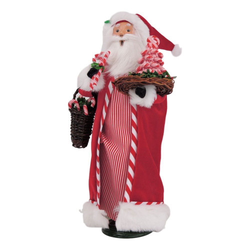 Byers Choice Caroler, Candy Cane Santa (3163)