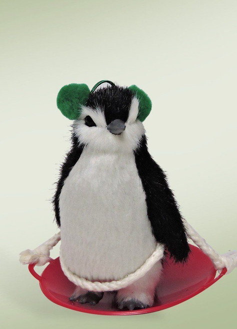 Byers' Choice Animal, Penguin On Snow Saucer (6812)