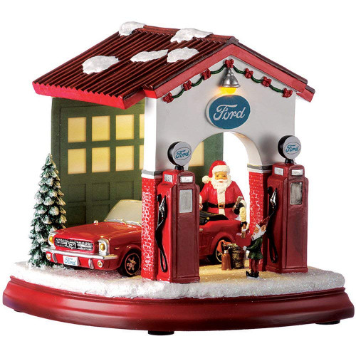 Roman LED Ford Garage with Santa