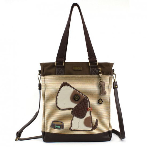 Chala Work Tote, Toffy Dog, Brown Stripe (837DG3S)