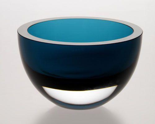 "Badash 6"" Crystal Serving Bowl, Peacock Blue (K2005)"