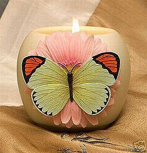 Ibis & Orchid Votive Jar Candle, Orange-Tipped Butterfly