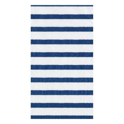 Caspari Paper Guest Towel Napkins, Bretagne Blue (11860G)