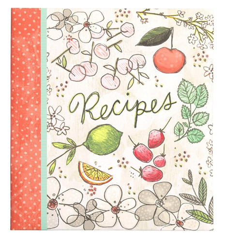 C.R. Gibson Pocket Page Recipe Book, Fruit Fusion