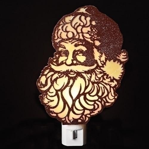 Roman Cutout Santa Head Nightlight