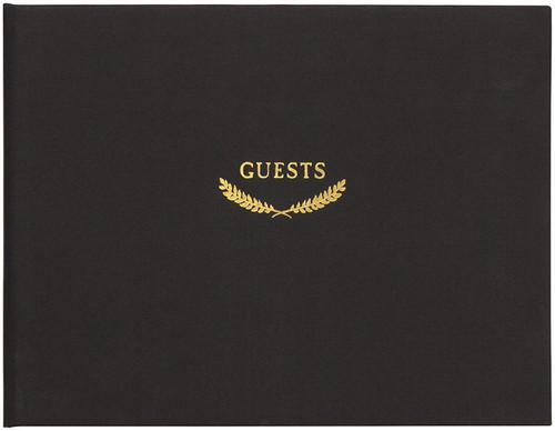 C.R. Gibson All Occasion Guest Book, Classic Black