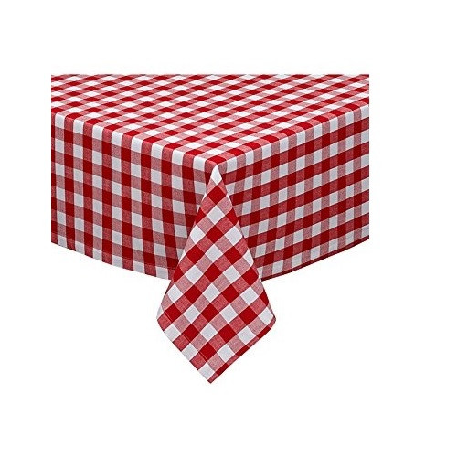 Design Imports Red & White Checkers Tablecloth