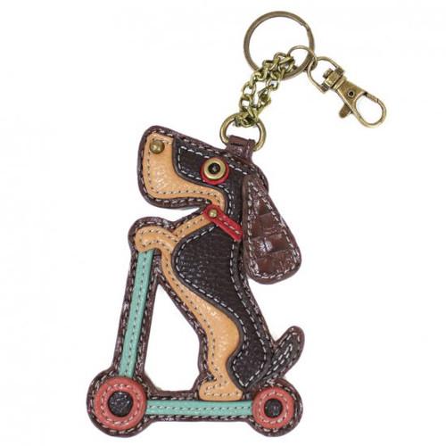 Chala Coin Purse/Key Fob, Wiener Dog