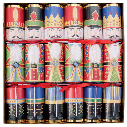 Caspari Celebration Christmas Crackers, Nutcrackers, Box of 6 (CK021.12)