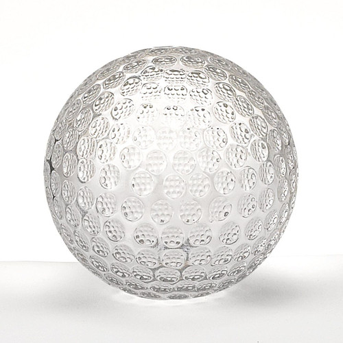 Badash Crystal Golf Ball Paperweight, Clear