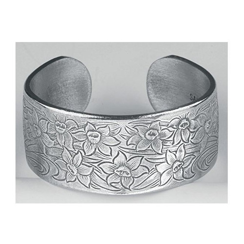 Salisbury Pewter Bracelet - Flower of the Month - March