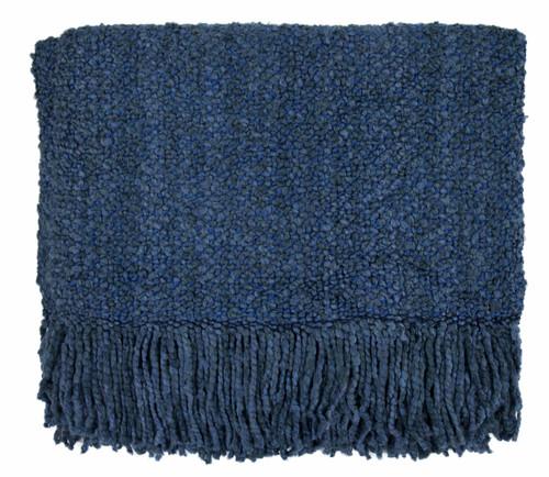 Kennebunk Campbell Woven Throw, Bristol Blue