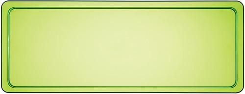CEG Rectangular Plastic Tray, Translucent Green (179431)