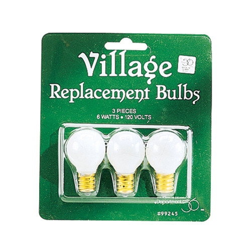 Department 56, Village Accessories, Round Light Bulb Replacements, Set of 3