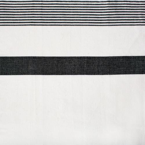 C&F Enterprises Black & White Stripe Kitchen Towel