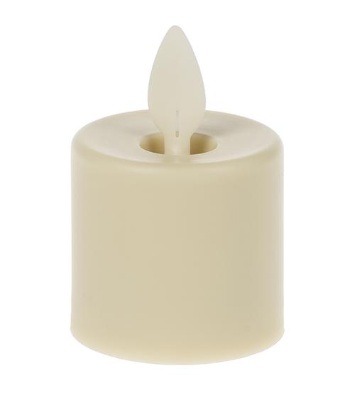 Ganz LED Resin Tealights, Ivory, Pack of 4 (LLR1119)