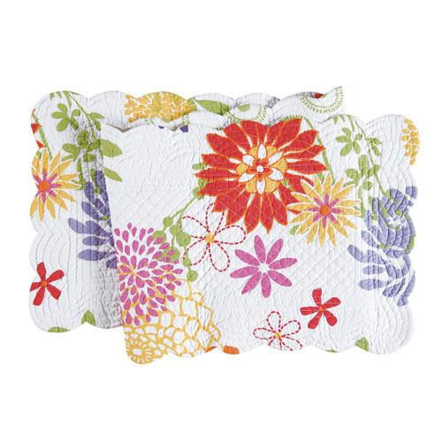 "C&F Enterprises 14"" x 51"" Quilted Reversible Lilly Table Runner"