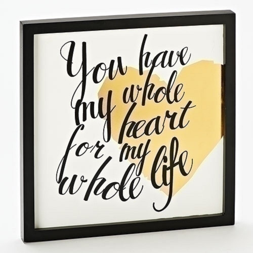 """Roman """"You Have My Whole Heart..."""" Plaque"""