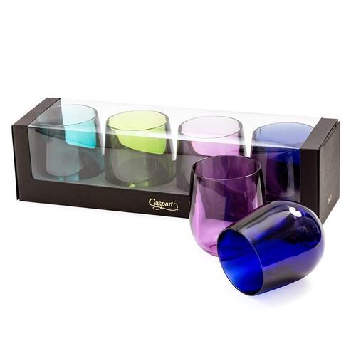 Caspari Acrylic Tumbler Gift Set, Jewel Tones (ACR100SET.A)