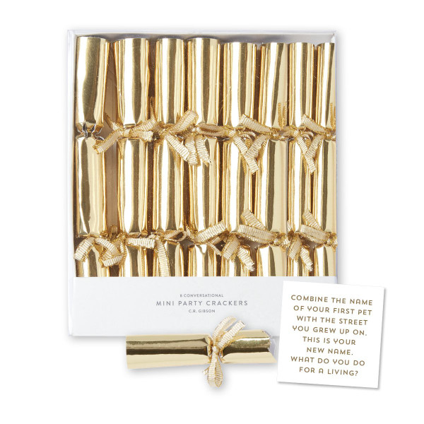 C.R. Gibson Mini Party Crackers, Gold