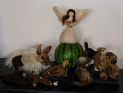 Examples of felted items made using these needles